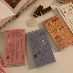 냥냥빔 vintage ticket memopad (12종)