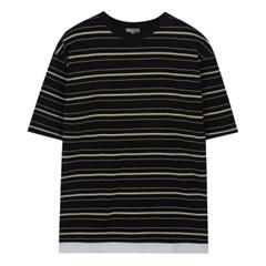 스트라이프 레이어드 5부 티셔츠_SPRSA24C18
