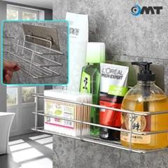 OMT 무타공 벽걸이 스테인레스 욕실 주방 선반 벽손상없는 간편부착