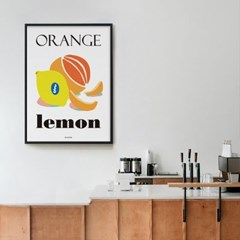 오렌지와 레몬 M 유니크 인테리어 디자인 포스터 카페 과일