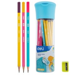 DELI 델리 삼각연필 30PS 필통세트