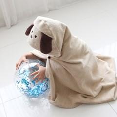 코니테일 아기목욕가운 - 퍼피 (유아비치타올 신생아수건 샤워가운)