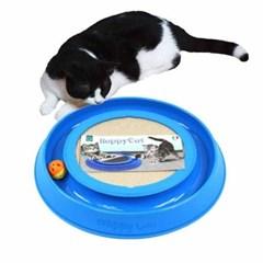 해피캣 고양이 스크레쳐 장난감 레일형토이 블루
