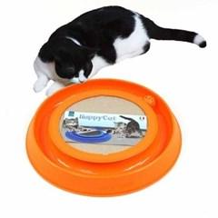 해피캣 고양이 스크레쳐 장난감 레일형토이 오렌지