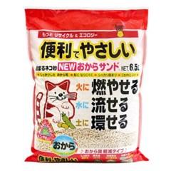 천연 콩비지 애완 고양이 화장실 용품 두부 모래 6.5L