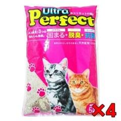 고양이 모래시리즈 울트라 퍼팩트 레몬향 5L X4개