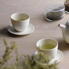 킨토 페블 컵 앤 소서 180ml - 화이트_(1590576)