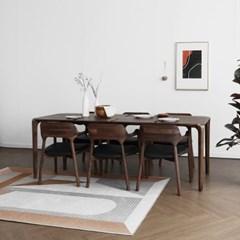 [헤리티지월넛] S6형 식탁/테이블 세트_(1551123)