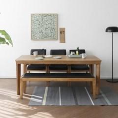 [라미스내츄럴] 6인용식탁/테이블 세트_(1551121)