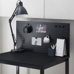 디어 800 블랙 1인용 컴퓨터 책상 타공판 책상세트 (브라켓포함)