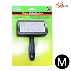 리케이 라운드 슬리커 브러쉬 M 애완용품