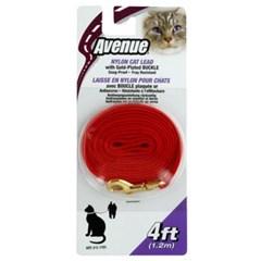 에비뉴 고양이 나일론줄 5mm 레드 C1701