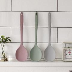 국내산 파스텔 실리콘 요리 왕스푼-3color