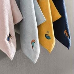 파스텔 극세사 주방타올 핸드타올 어린이집 고리수건 4color