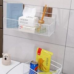 벽걸이 보급형 철제망 욕실 수납함