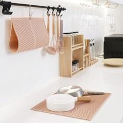 우디핑크 실리콘 드라잉 매트 식기건조매트