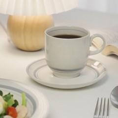 카네수즈 그레이 커피잔+받침세트 265ml