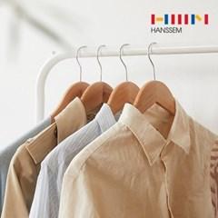 [한샘] 원목옷걸이 30p - 나무 우드 추천 코트 유아 정장 아동