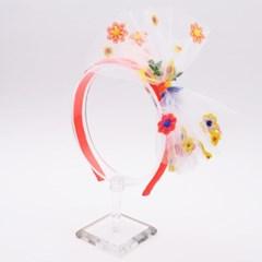 [헤어보우]꽃 자수 헤어밴드_4Colors