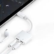 아이폰 2in1 듀얼 라이트닝 8핀 충전기 이어폰 젠더