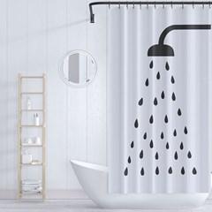 샤워 물방울 샤워커튼 180x180cm