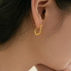 925 silver rough C earrings (실버925)