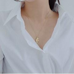 92.5 silver zigle necklace (2color) (실버925)