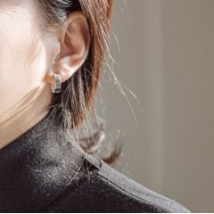92.5 silver bold ring earrings (실버925)