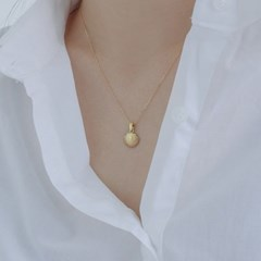 92.5 silver antique shell necklace (2color) (실버925)