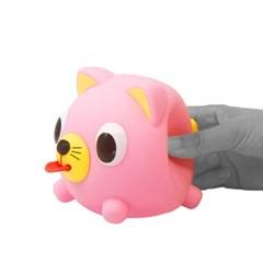 자버볼 고양이 핑크
