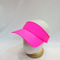 형광 네온 골프 테니스 밴딩 챙넓은 썬캡 모자