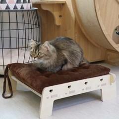 엉클펫 자작나무 반려동물 고양이 강아지 쿠션 침대