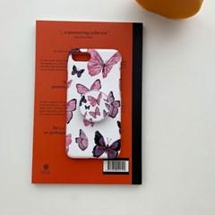 빈티지 버터플라이 패턴 디자인 하드케이스