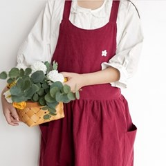 플라워 셔링 원피스 앞치마 5color
