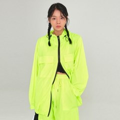 W LIGHT WEIGHT ZIP-UP WINDBREAKER_LIME
