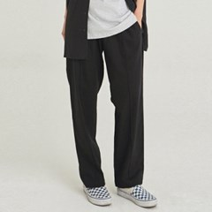 W SAFARI LINEN WIDE PANTS_BLACK