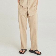 W SAFARI LINEN WIDE PANTS_LIGHT BEIGE