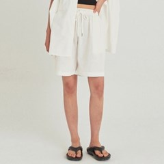 W SAFARI LINEN WIDE SHORT_IVORY