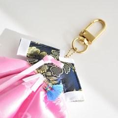 120-SP-0001 / 한복 향낭 키링 엽서(벚꽃)