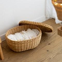 올리브 라탄 바구니 (대)