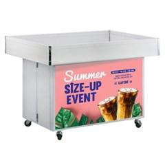 바퀴달린 이동식 상품진열대 철제 접이식 마트 행사매대 과일 판매대