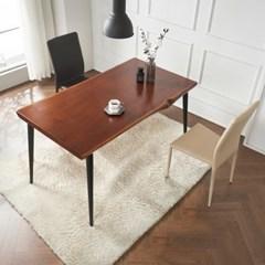 브리엔 원목 철제 식탁 세트A 1400 + 의자 2개포함