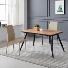 토바 무늬목 식탁 세트A 1200 + 의자 2개포함
