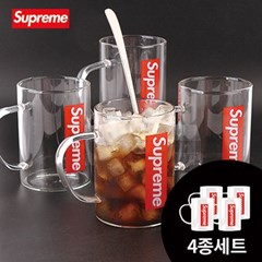 Supreme 슈프림 내열유리컵 450ml 4p