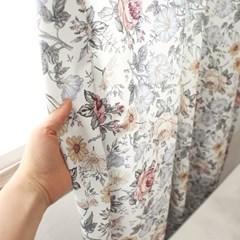 빈티지플라워 커튼(화이트)(총140x150cm)