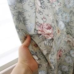 빈티지플라워 커튼(베이지)(총140x230cm)
