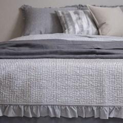 Artificial Silk Frill Summer Bedding_gray
