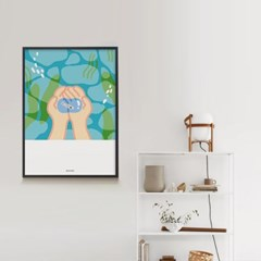 여름방학 M 유니크 인테리어 디자인 포스터