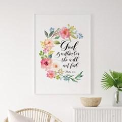 성경 말씀 액자 포스터 시편 46장5절