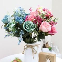 3+2행사 열매장미 인테리어조화 부쉬 고급조화 산소꽃 성묘꽃